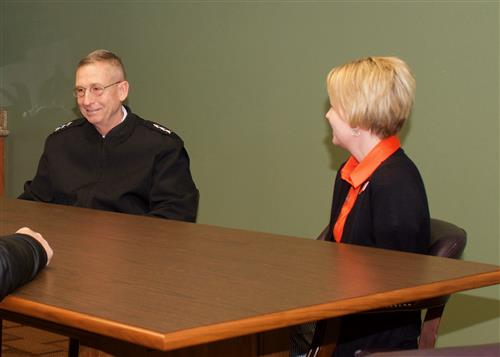 Waynesville R-VI and WCC leaders meet with LTG Martin