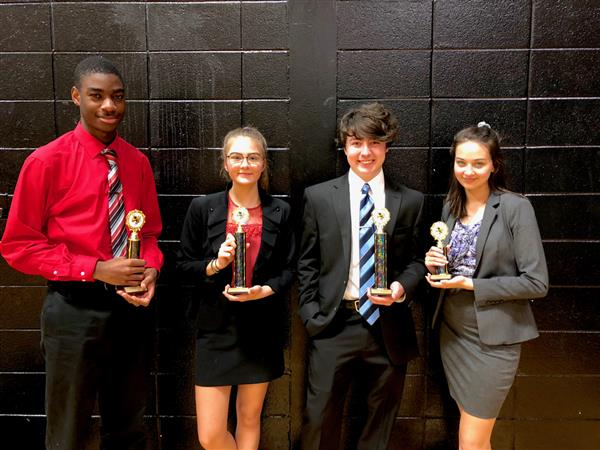 Speech & Debate Take Home Trophies