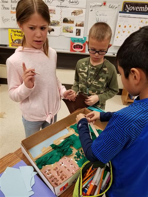 Partridge Elementary second graders learn about Native Americans 1