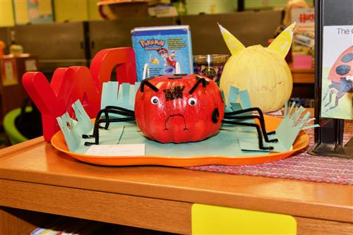 Wood Elementary students decorate pumpkins like book characters 7