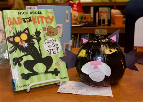 Wood Elementary students decorate pumpkins like book characters 10