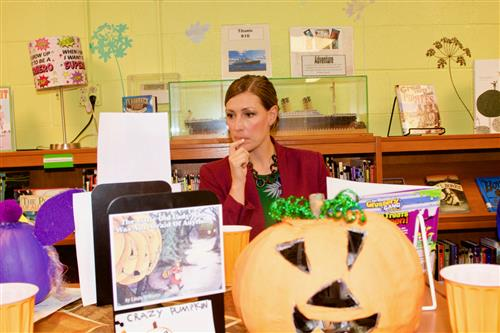 Wood Elementary students decorate pumpkins like book characters 5