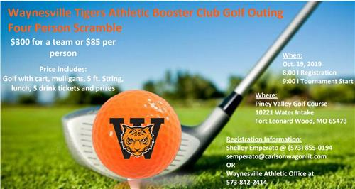 Booster Club Golf Our Oct. 19th