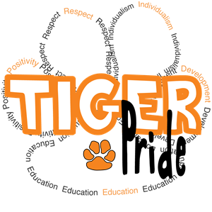 Tiger Pride image with paw print