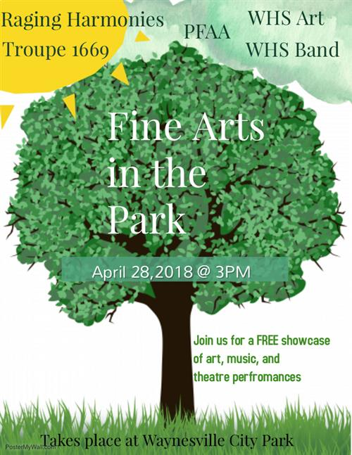 Fine Arts in the Park poster