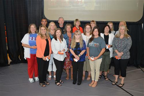 Waynesville R-VI School District employees were recognized for milestone years of service