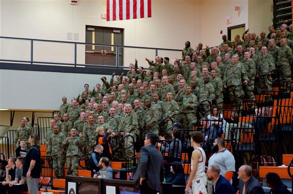 787th PIE Partners attend WHS boys basketball game