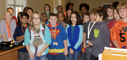 Sixth graders tour Admin Building