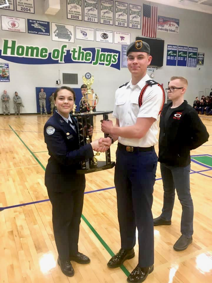 Drill team takes 2nd; Handley takes 1st