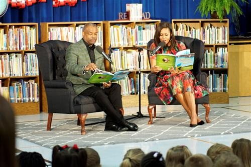 MICHELLE OBAMA, DR. JILL BIDEN, MARK KELLY AND LEVAR BURTON HOST STORY TIME EVENT FOR ELEMENTARY SCHOOL STUDENTS