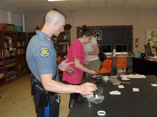 WMDS hosts CSI-type night for parents and students