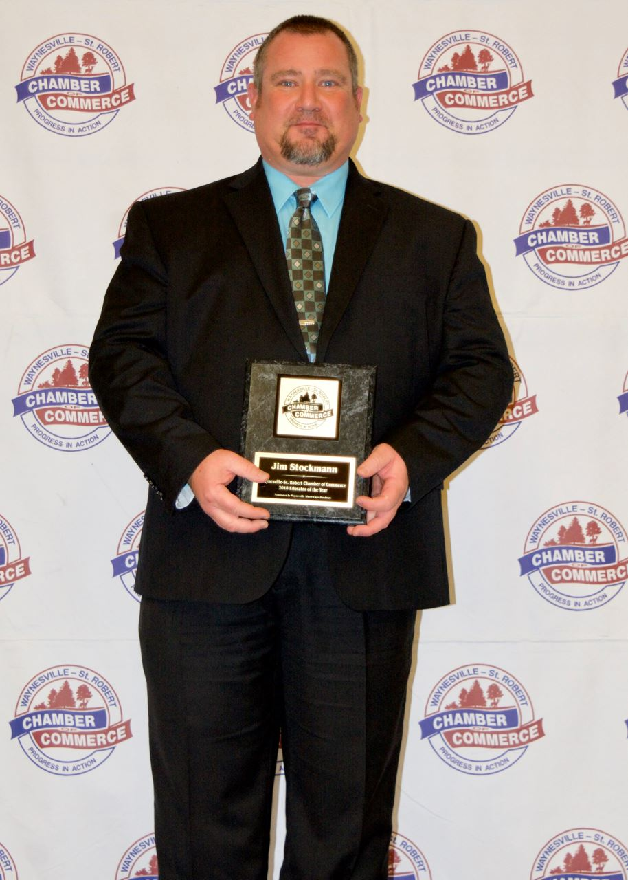 Stockmann named Educator of Year at Chamber event