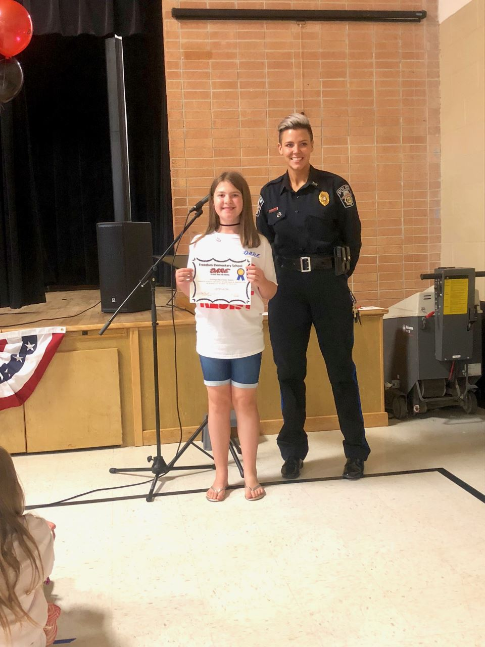5th graders graduate from DARE at East Elementary