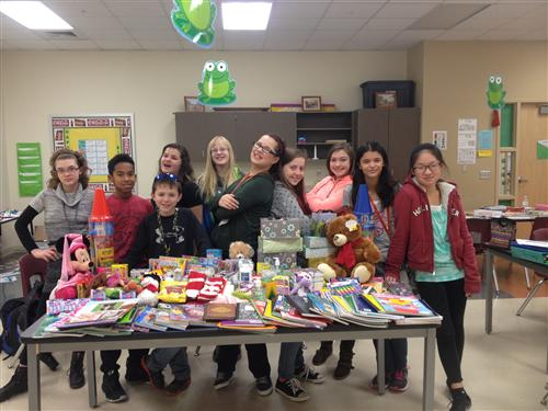 LEAP classes send chemo care kits to kids