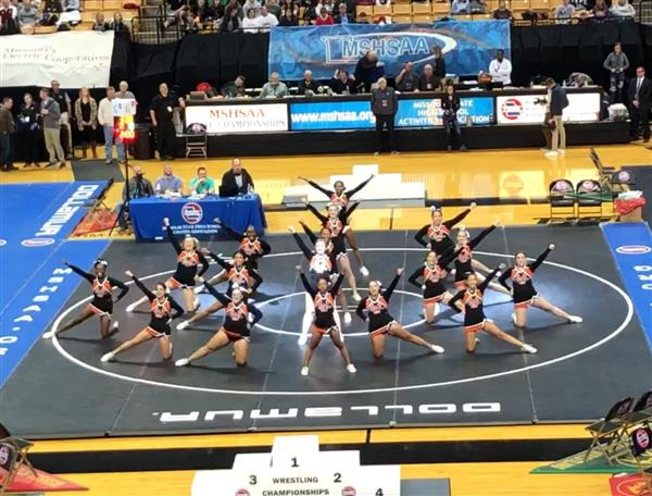 WHS cheerleaders perform at state wrestling meet