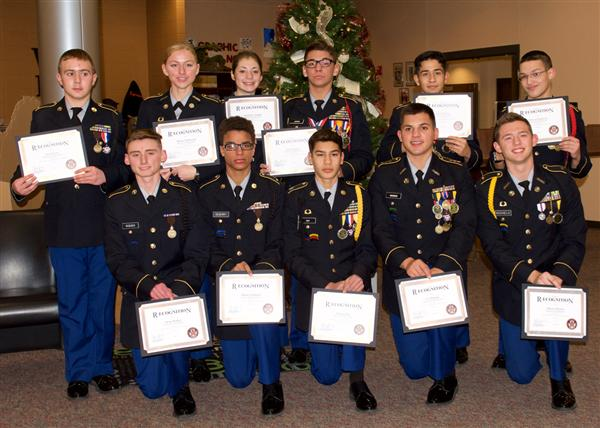 Waynesville JROTC receives recognition at board meeting
