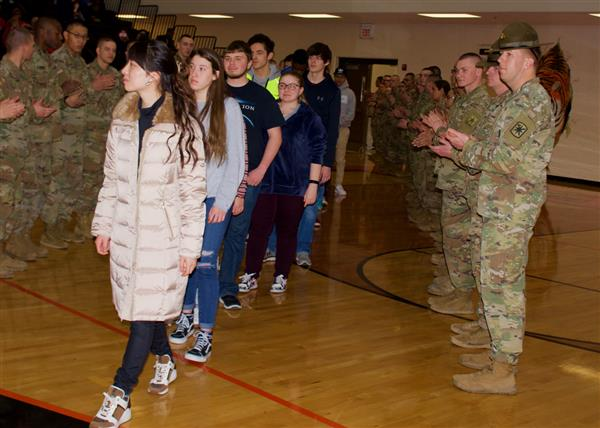 WHS hosts Military Appreciation Night and  presents students with NMSI checks for AP exam scores