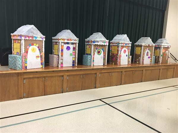 Partridge students build gingerbread houses