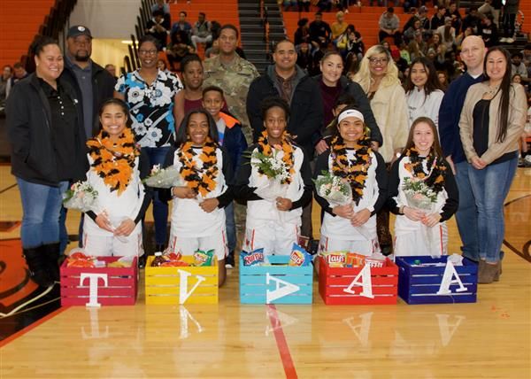 WHS seniors girls basketball players recognized