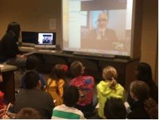 Fifth graders Skype with elected officials
