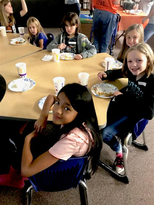 "Partridge students experience ""First Thanksgiving"""