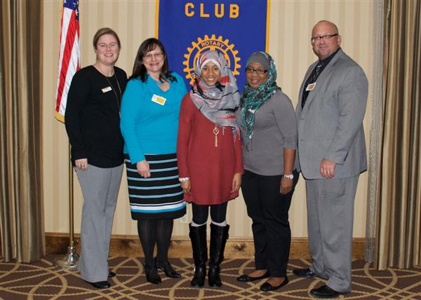 Amodio and Mujahid named Rotary's Students of The Month