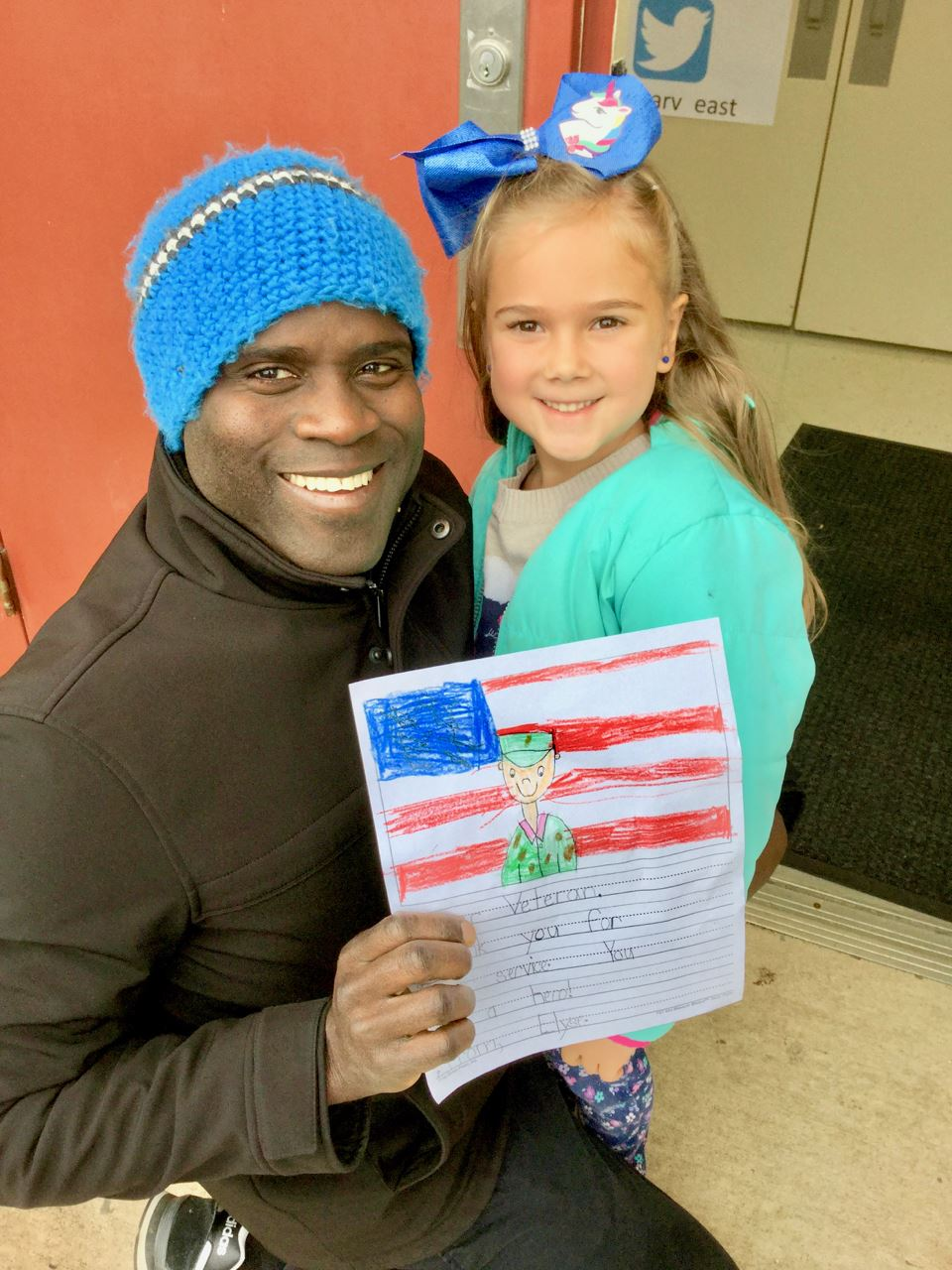 Students writes letter to veteran who works at her school