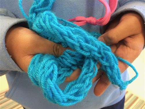 Partridge students use yarn to promote diversity
