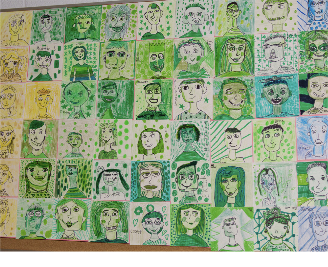 Thayer students create self portraits