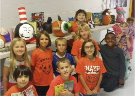 Thayer 2nd graders decorate pumpkins like book characters