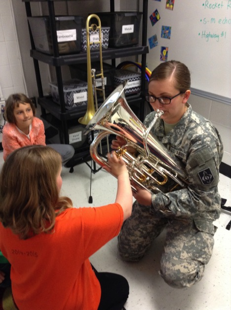 399th Army Band visits East Elementary