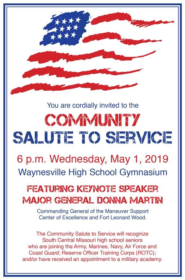 Community Salute to Service to be held May 1