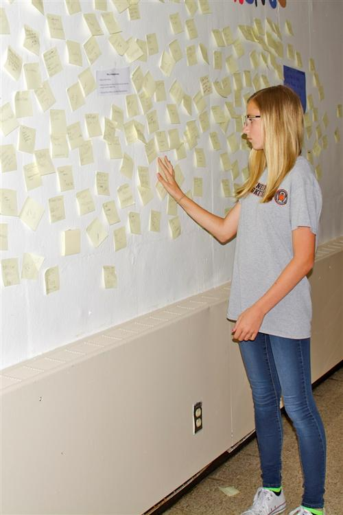 Students post on Wall of Remembrance