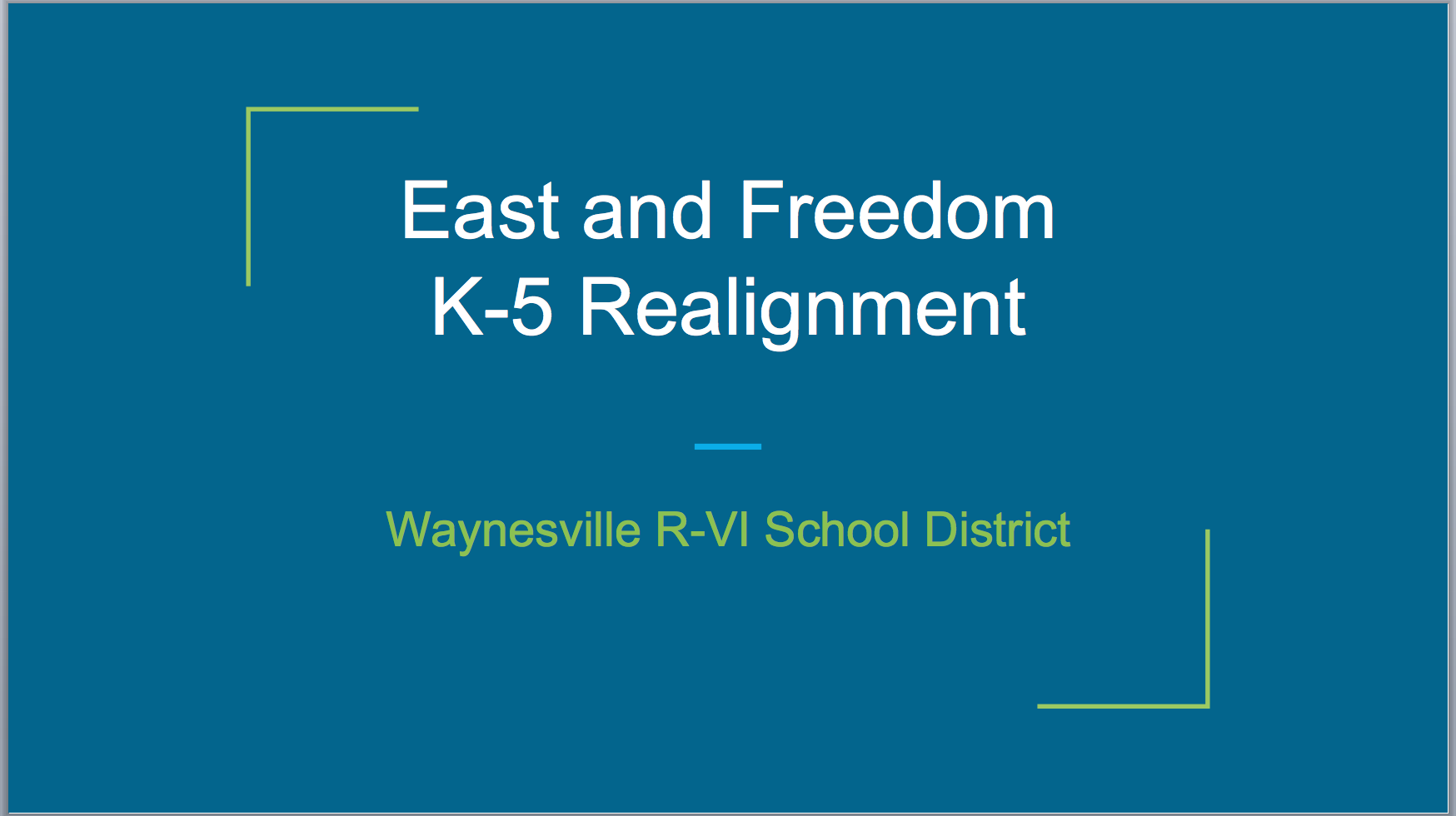 K-5 Realignment